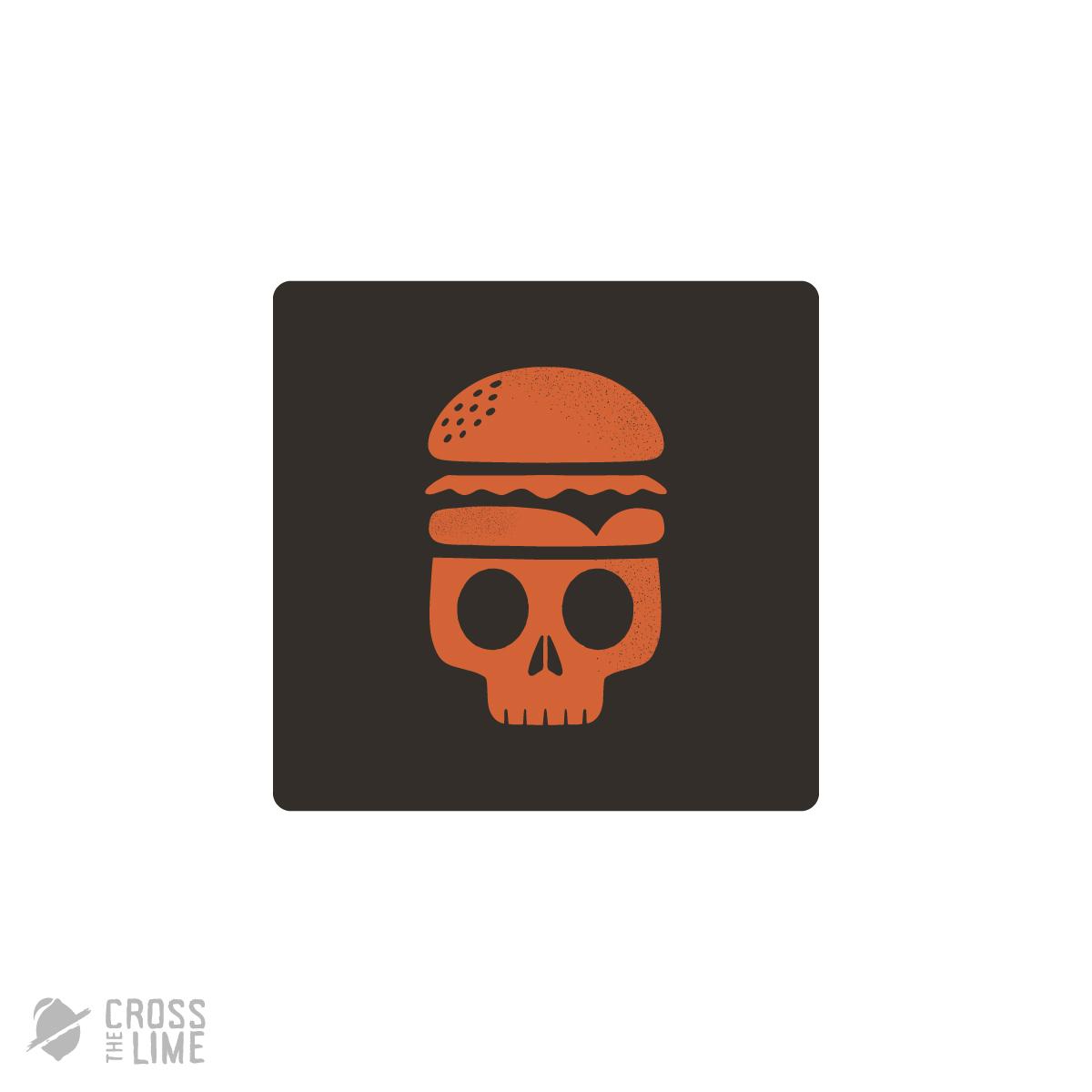 Skull burger logo