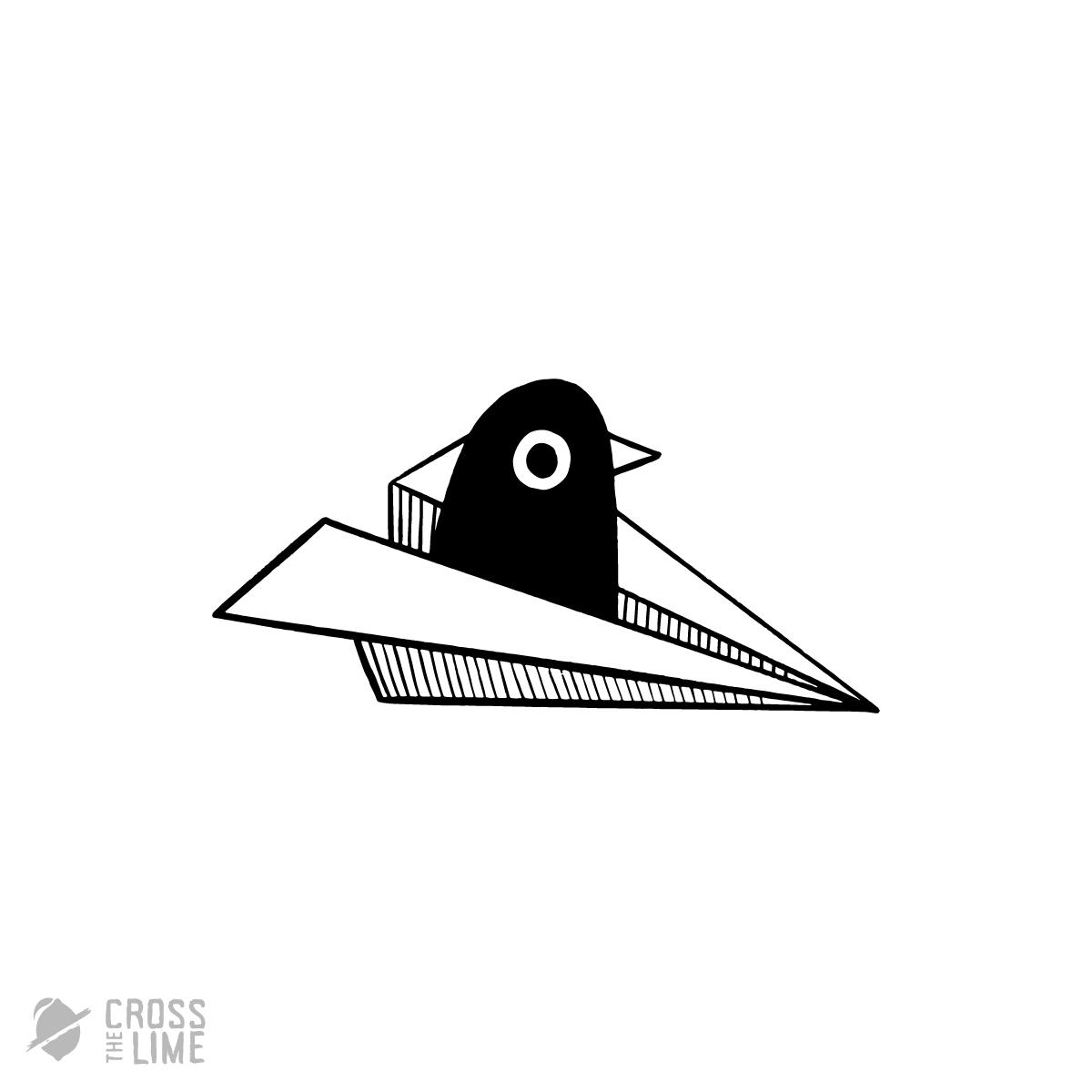 Lazy bird logo