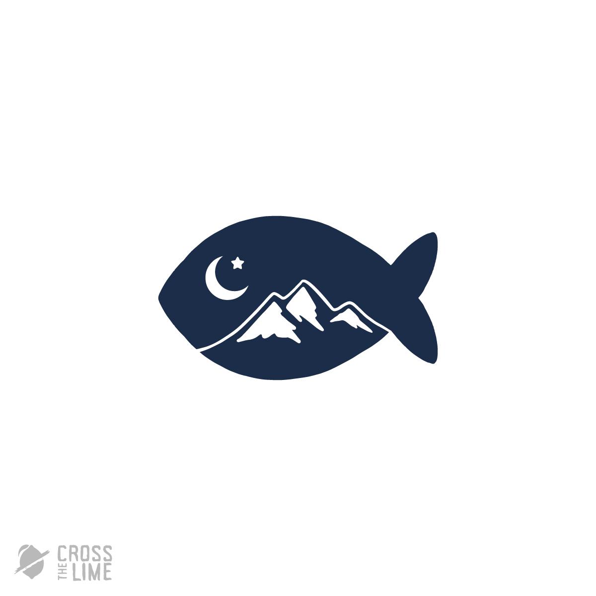 Moon fish logo