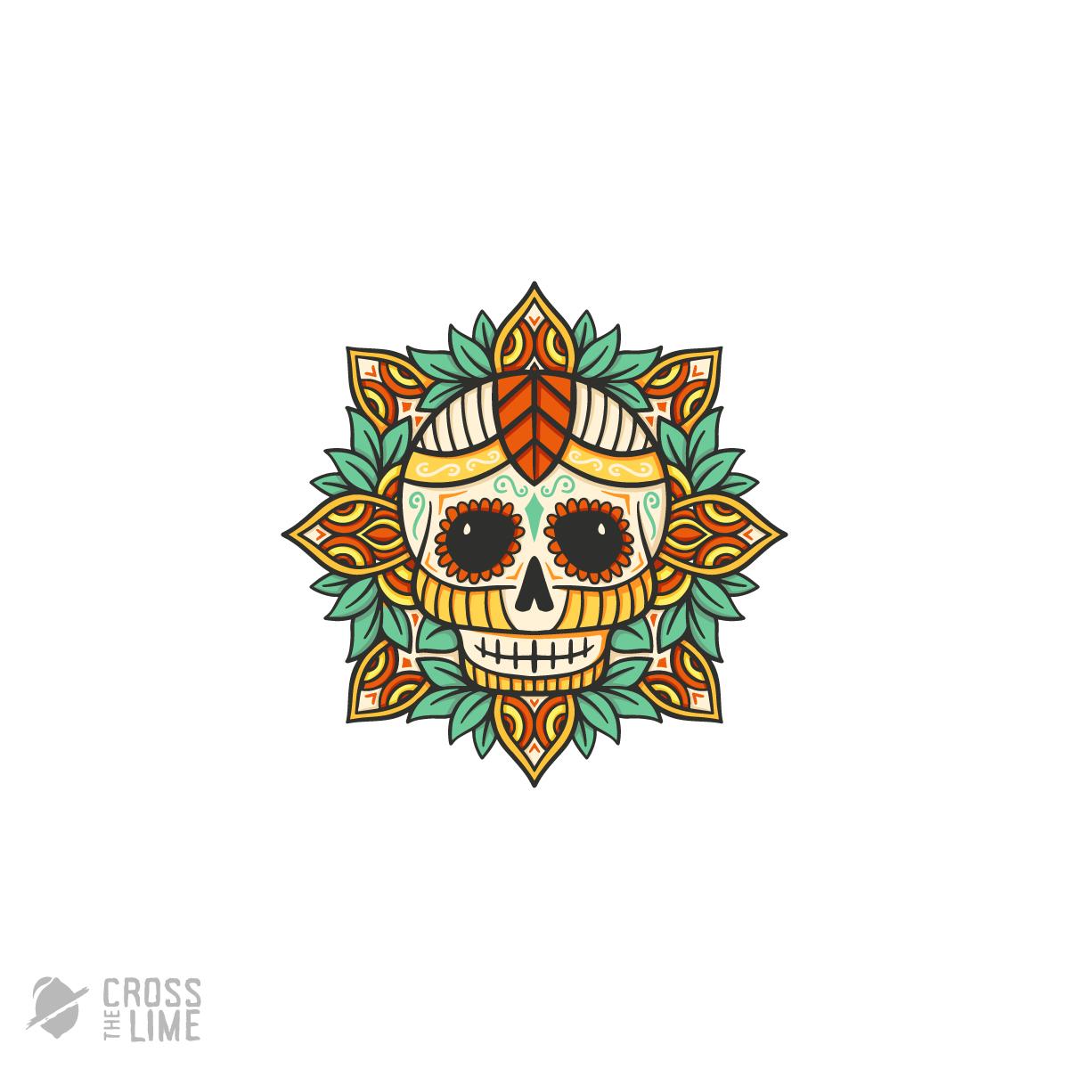 Skull mandala logo